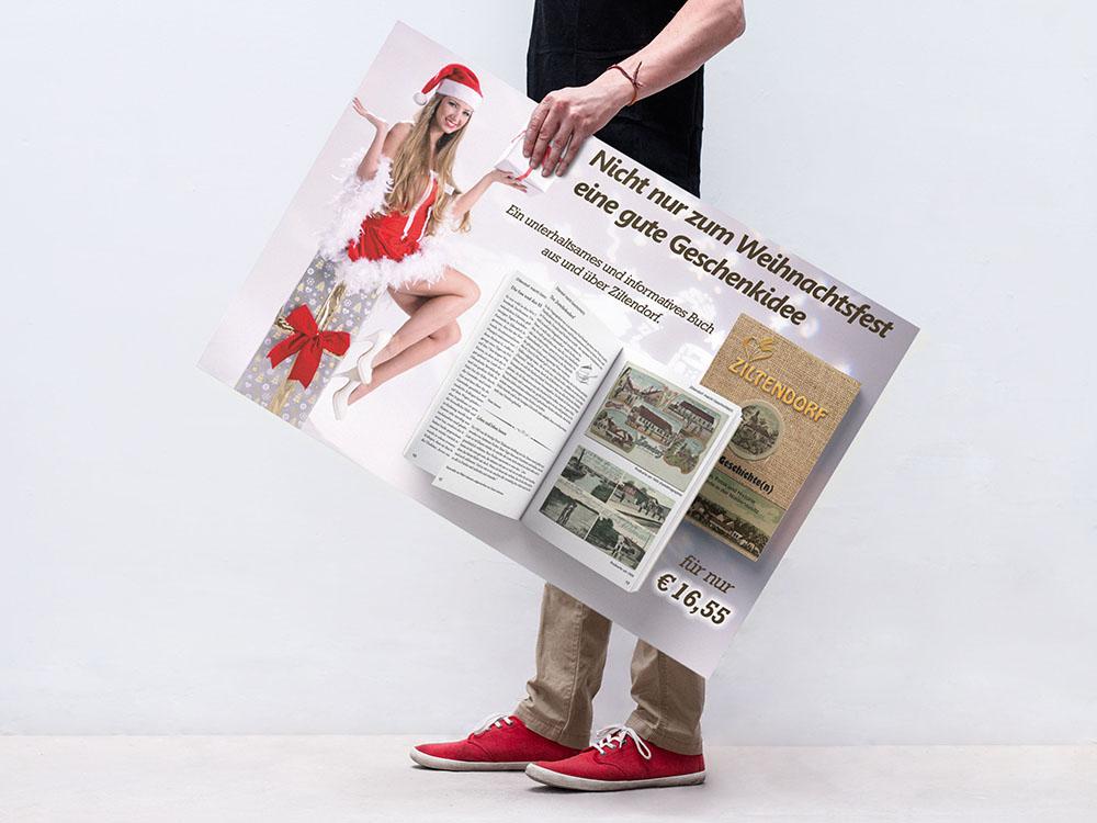 Buch und Werbung